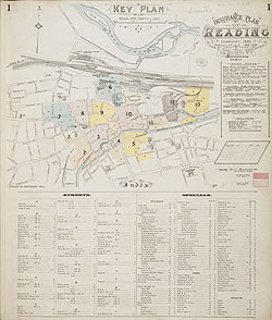 Map Of Reading Area Uk.Insurance Plan Of Reading Key Plan
